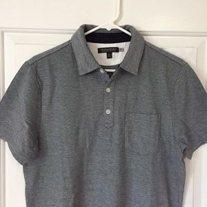 Banana Republic Heather Gray Polo Shirt